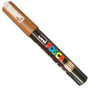 caneta posca pc 1m brown