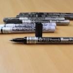 caneta pen touch sakura prata ouro branca