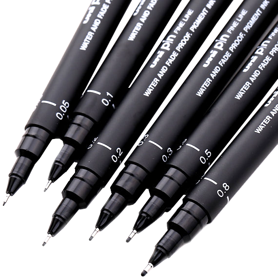 caneta nanquim uni pin descartavel nankin