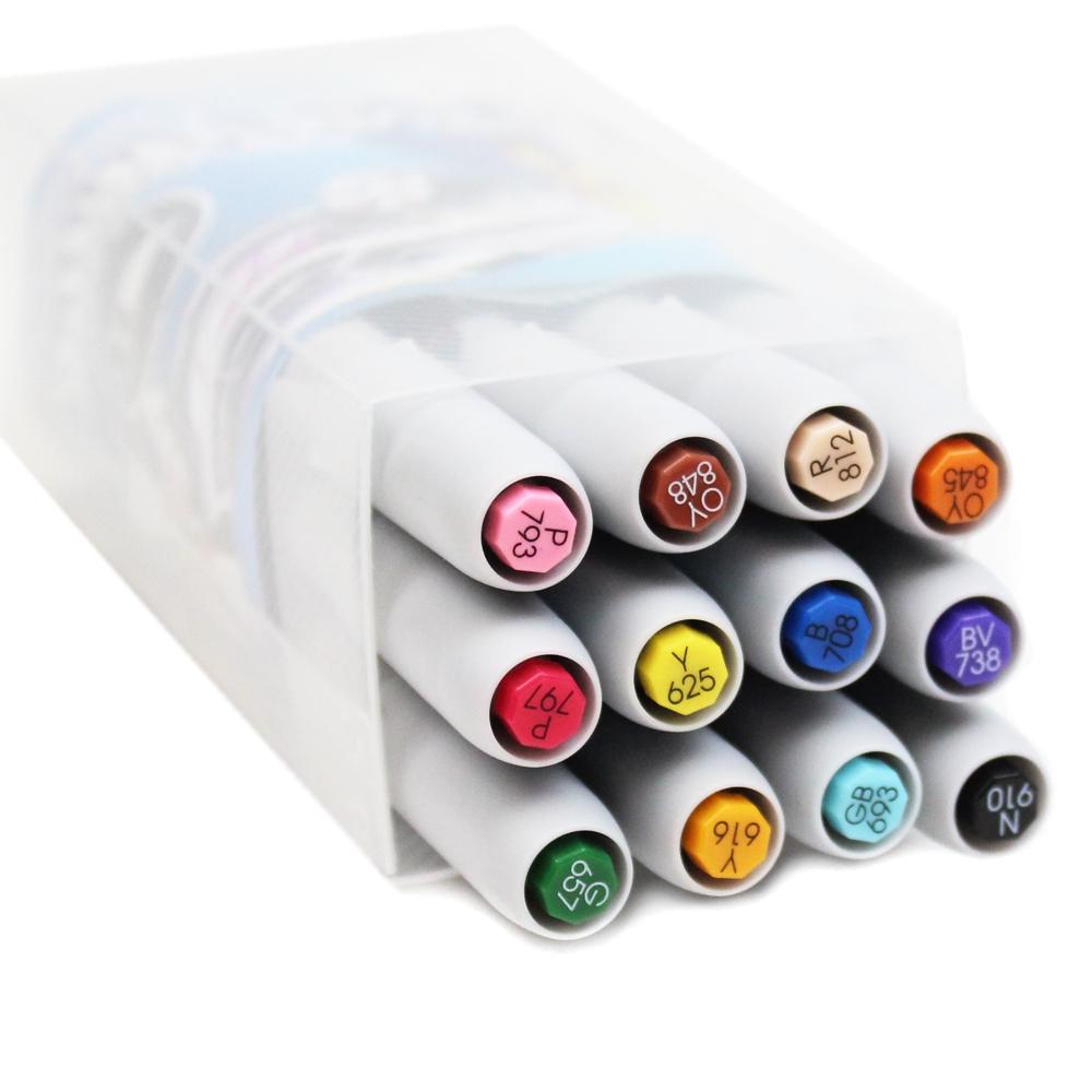 kit caneta LEPLUME permanet Brush soft 300-12-sakura